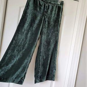 Madewell Green Velvet Hutson Pull On Crop Pants S